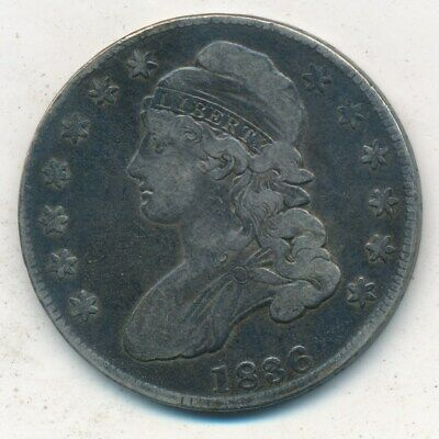 1836 Capped Bust Silver Half Dollar-Very Nice Circulated Half-Ships Free!