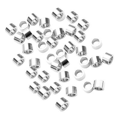20x Stainless Steel Metal Beads Cylinder Loose Spacer Charm Large Hole 4x5mm