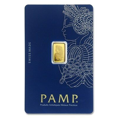 1 Gram ~ Pure Gold Bar ~ Pamp  Suisse ~ Fortuna ~ *new Version* ~ Sealed ~ $9.99