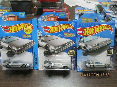 (3) Variations Hot Wheels Back To Future Hover Mode Delorean Target Snowflake