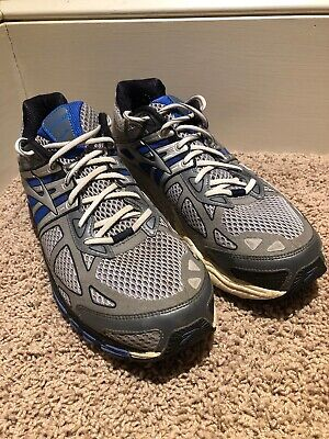15c8a776566 Brooks Beast 14 Men s Size US 13 Wide Running Shoes Electric Silver A5 Blue  Grey