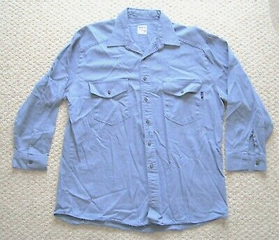 0841bb2cc0fc Workrite FR Shirt Flame Resistant Long Sleeve Button Up Indura by Westex XL  USA