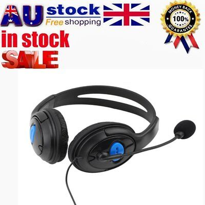 HOT! Stereo Wired Gaming Headsets Headphones with Mic for PS4 Sony PlayStation#