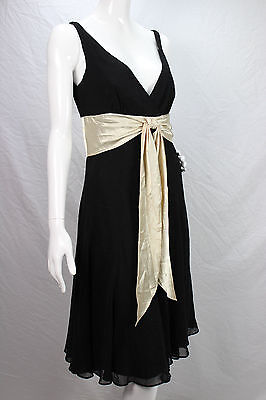 4a5806c7f9b5e Scarlett New Black Ivory Cleavage Anthropologie French Cocktail Dress sz 6