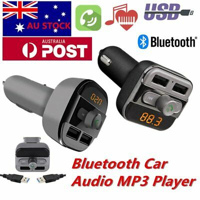 Wireless Bluetooth LCD MP3 Player FM Transmitter Handsfree Car Kit USB/SD AU UX