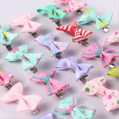40pcs Baby Hair Clips Girls Kids Flowers Hair Clip Bow Hairpin Alligator Clips