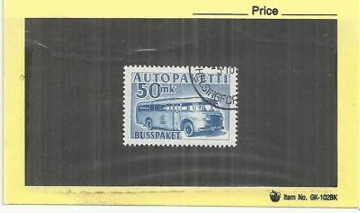 Finland 1952 Parcel Post 50mk Blue Single VFU