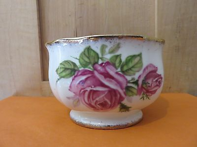 "Royal Standard ""orleans Rose""  Open Sugar Fine  Bone China England-Gold Trimsale"