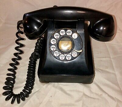 Vintage Bell System F1 Rotary Dial Telephone Made by Western Electric 302E/G
