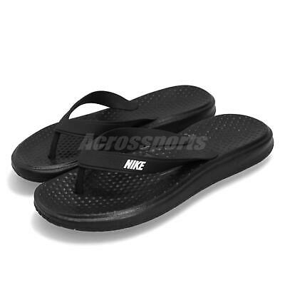 8c69155d1 Nike Solay Thong Black White Men Sports Sandals Slides Slippers 882690-005