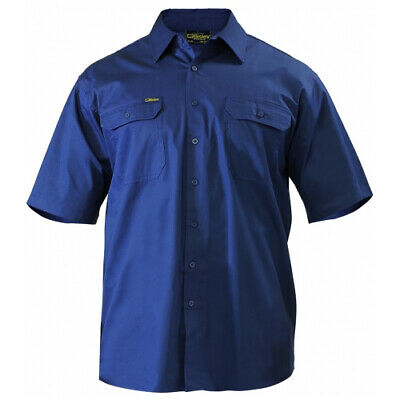 NEW Bisley Shirts  Short Sleeve Shirt Navy - in Navy - 5XL - Safety Clothing -