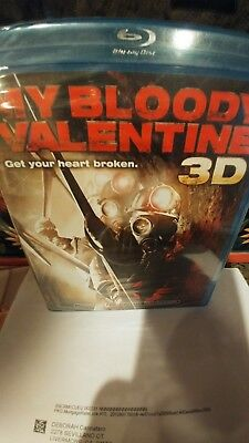 My Bloody Valentine Blu-ray Disc,3D 2009,2-Disc w/4 pairs 3D glasses new sealed