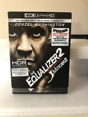 The Equalizer 2 - 4K Ultra HD UHD (Blu-Ray, 2-Disc Set, 2018) With Slipcover