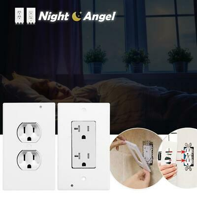 LED Light Night PIR Motion Sensor Wall Outlet Plate Face Plug Cover Hallway Lamp