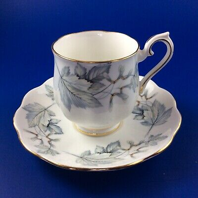 Royal Albert Silver Maple Bone China Demitasse And Saucer