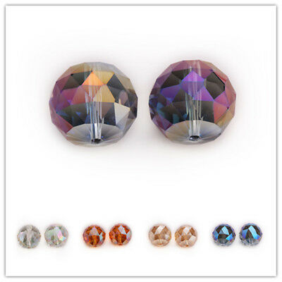 20mm 5PC Faceted Glass Crystal Round Loose Spacer Beads Jewelry Accessories New