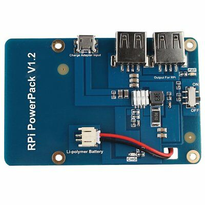 Lithium Battery Expansion Board RPI Powerpack for Raspberry Pi 3 Model B Pi 2B#