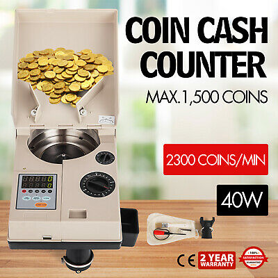Electronic coin change sorter coin counter counting machine for most countries e