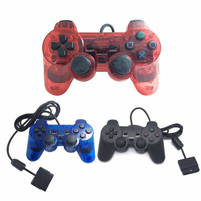 Wired Control Double Shock Remote Joystick Gamepad Joypad for PlayStation 2 PS2