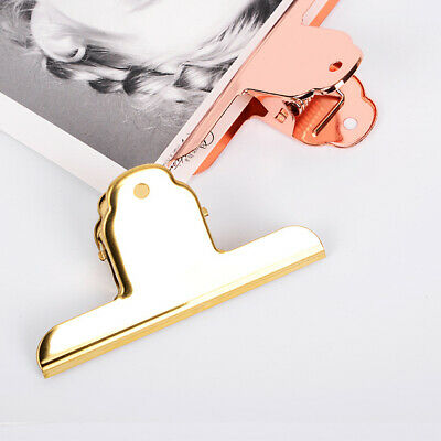 Metal Clips Bulldog Clip Stainless Steel Ticket Clip Office Folder Bills Clamp