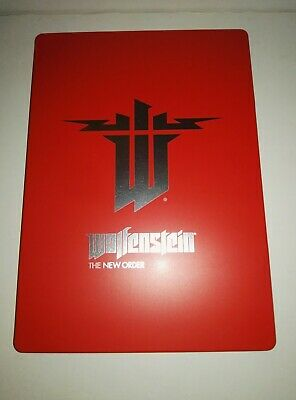 Wolfenstein: The New Order - Steelbook ONLY, NO Game Disc PS4/very rare