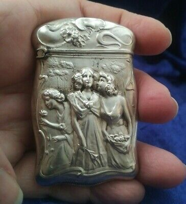 Estate Antique Art Nouveau Sterling Matchsafe!