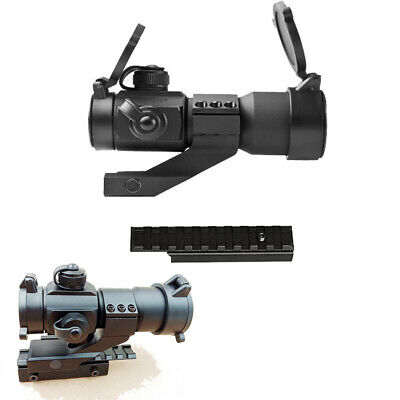 Tactical Red/Green Dot Sight Scope+Extend Dovetail Adapter Rail Mount Base