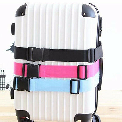 New Travel Luggage Suitcase Baggage Bag Backpack Cross Strap Belt Plastic Clasp