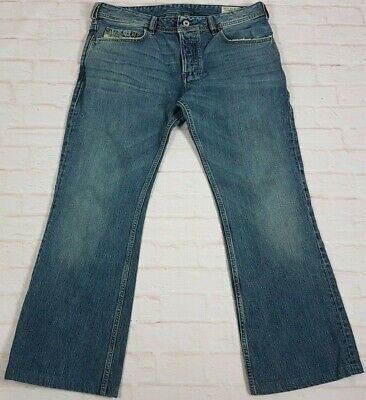 39fc7413 Diesel Zathan Men's Boot Cut Jeans 0071X Button Fly Italy Size 32 Actual  34x28.5