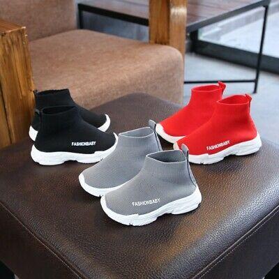 Toddler Infant Kids Baby Boy Girl Mesh Letter Ankle Boots Sport Shoes Sneakers
