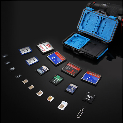 Memory Card Storage Carrying Case Waterproor Holder Cover For CF/SD/SDHC/MS/DS