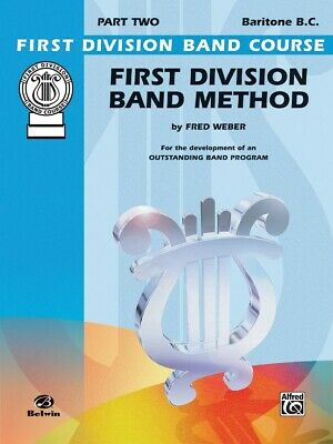 First Division Band Method Part 2 -Baritone B.C. New old Stock