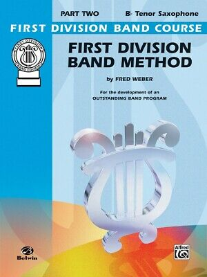 First Division Band Method Part 2 - Tenor  Sax Saxophone New old Stock