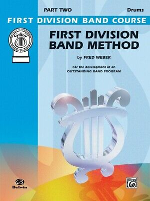 First Division Band Method Part 2 -DRUMS New old Stock