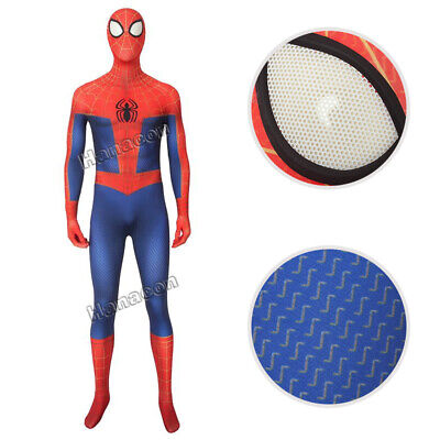HZYM Spiderman Into the Spider Verse Miles Morales Cosplay Costume Halloween