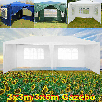 Gazebo Marquee Party Tent Waterproof Garden Patio PE Outdoor Canopy Coverage 9M