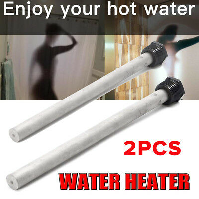 "2x For Suburban 232767 RV-Camper 9 1/4"" Water Heater Magnesium Anode Rod Replace"