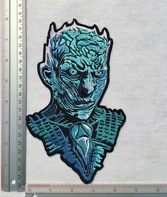 Large The Night King Game of Thrones Patch White Walker Embroidered Sew Iron On