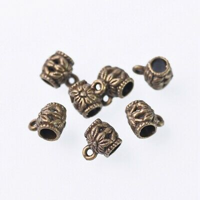 20pcs (Long Bucket) Metal Bronze Charms Pendant Connector Bail Jewelry Making