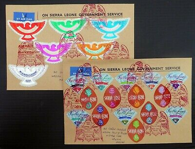 SIERRA LEONE 1970 Land of Iron & Diamonds Complete on 2 RARE SEE BELOW NP215