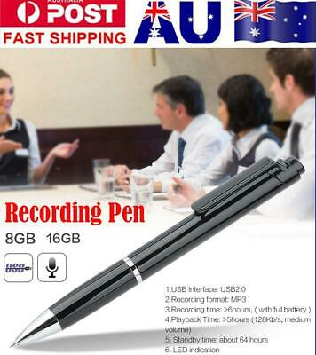 16/8GB Digital Voice Recorder Pen Audio Device Hidden Sound Recording USB Pen
