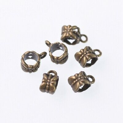 20pcs Bronze Metal Craft Pendant Bail Connector Charms Jewelry Making Findings