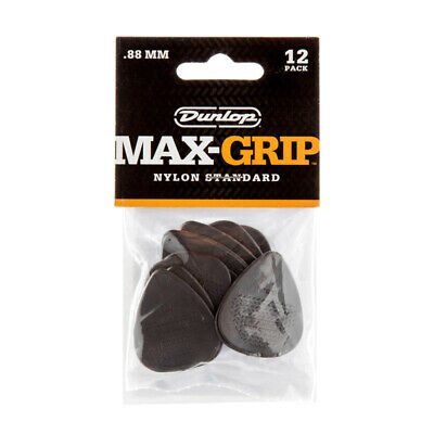 Dunlop Max-Grip Standard Plectrums, 0.88mm (Pack of 12) (NEW)