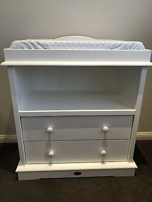 Boori Change Table with 2 Drawers and Accessible Storage Area