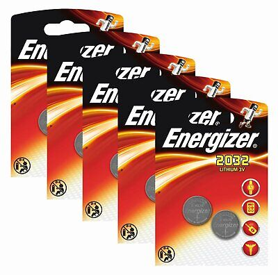 P-Energizer CR2032 Original Battery Lithium CR 2032 3 Volt 5x Pack of 2
