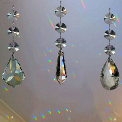 FE44 Acrylic Hanging Crystal Chandelier Curtain Pendants Practical