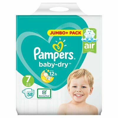 Pampers Size 7 Baby Dry Jumbo + Pack of 58 Baby Nappies