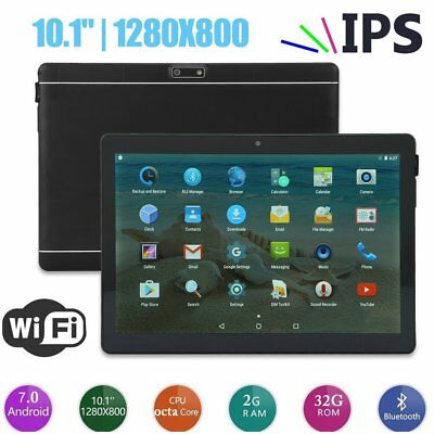10.1 32GB Android 7.0 Tablet PC Octa Core 10 Inch HD WIFI 2 SIM 4G Phablet CD