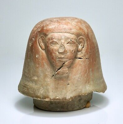 Ancient Egyptian Imsety Canopic Jar Lid - Early 18th Dynasty