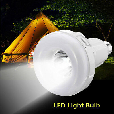 E27 Rechargeable White LED Emergency Camping Hunting Smart Light Bulb Lamp 9/15W